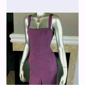 Herve Leger plum dress